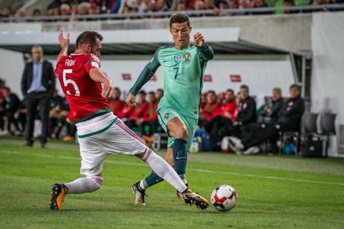 Magyar-portugál: Ronaldo a bírónál is kevesebbet futott