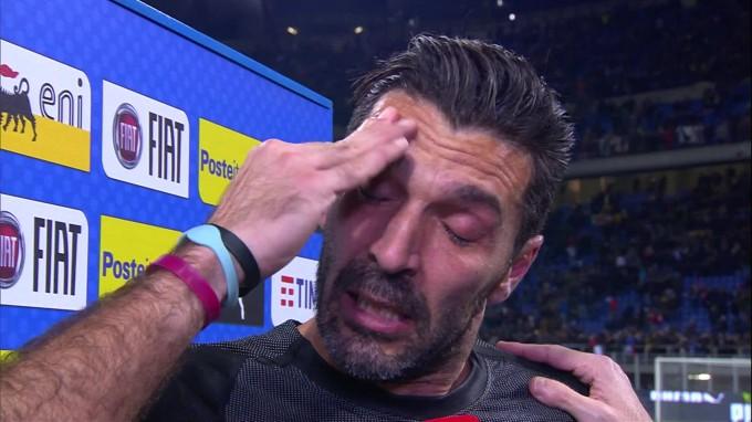 Így sírt Buffon az olasz-svéd után – videó