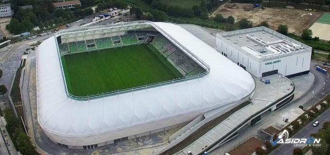 Újabb képeket kaptunk a Haladás épülő stadionjáról