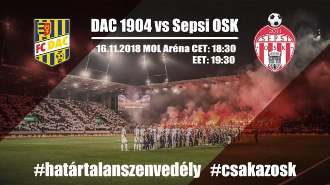Hatalmas meccs lesz holnap: DAC-Sepsi - fontos részletek