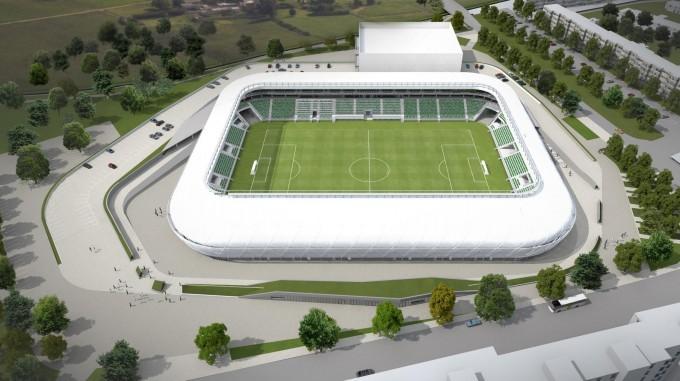 Lélegzetelállító drónfelvételek az épülő Hali-stadionról