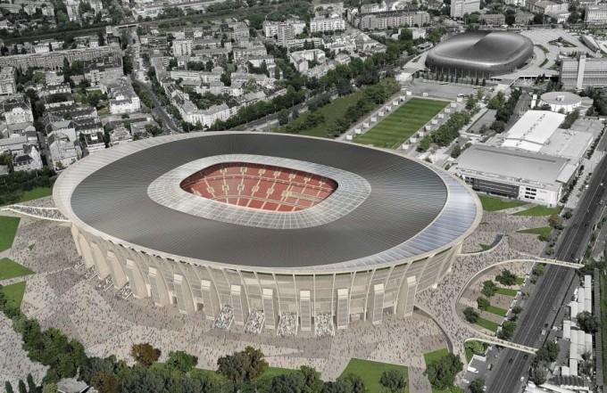 Belülről mutatjuk az épülő Puskás Ferenc Stadiont - videó