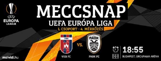 Vidi-PAOK: kezdőcsapatok